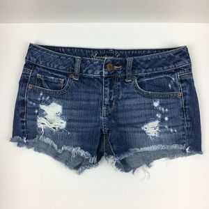 American Eagle Distressed Cutoff Denim Jean Shorts